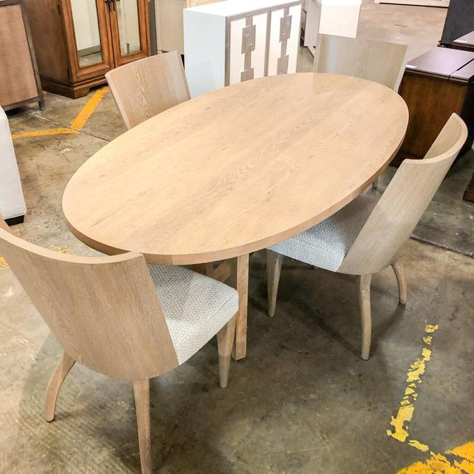 Oval Wooden Table w/ 4 Chairs