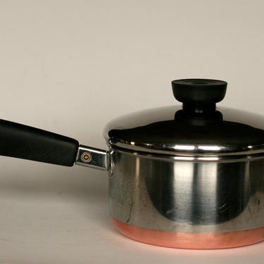 vintage revere ware 1 quart saucepan copper clad bottom made in clinton illinois 1978 by suesuegonzalas