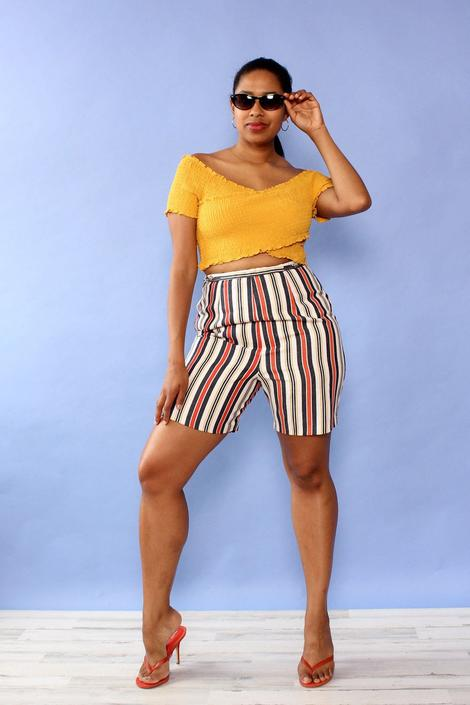 Bogart Stripe Shorts M