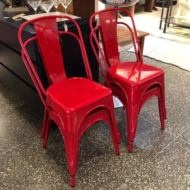 Red metal chairs! $55 each
