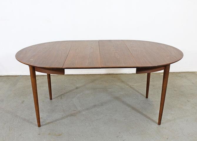 Mid-Century Modern American of Martinsville Walnut Extendable Dining Table by AnnexMarketplace
