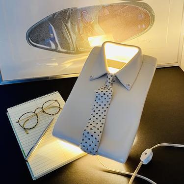 Vintage Trompe L'Oeil Shirt & Tie Sconce Lamp
