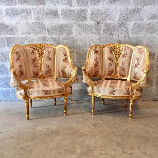 SOLD* French furniture French Chairs Louis XVI Antique Furniture Rococo Furniture Baroque French Chair Gold Leaf *2 Chairs Avail* French by SittinPrettyByMyleen