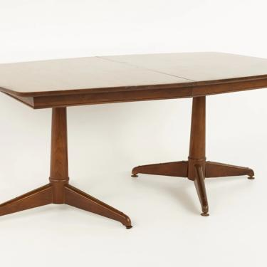 Kent Coffey Mid Century Pedestal Base 10 Seater Walnut Dining Table - mcm by ModernHill