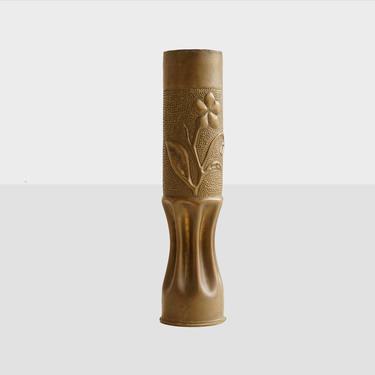 trench art vase, ww1 trench art vase, shell case vase, militaria, militaria trench art, antique trench art vase, vintage trench art vase, by pulpholyoke