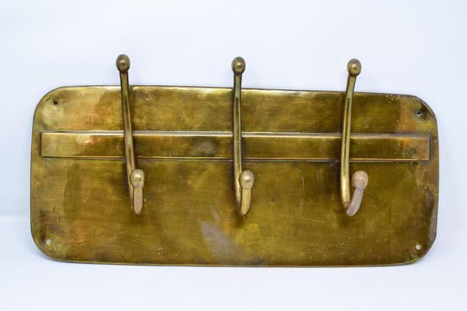 Vintage Brass Wall Coat /Hat Rack by CapitolVintageCharm