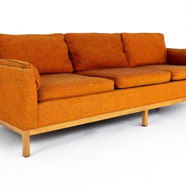 Milo Baughman for Thayer Coggin Mid Century Orange Tweed Sofa - mcm by ModernHill