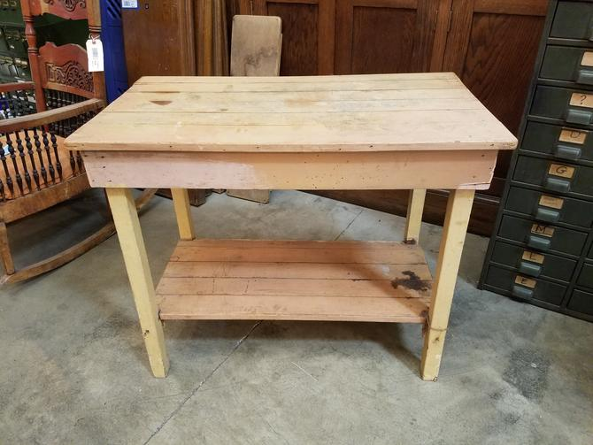 Rustic Wood Kitchen Prep Table 28.75 x 35 x 20.25