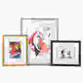 Three Assorted Framed Artworks