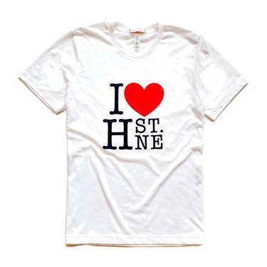 I ❤️ H ST NE - Large Print Graphic Tee (Classic White)