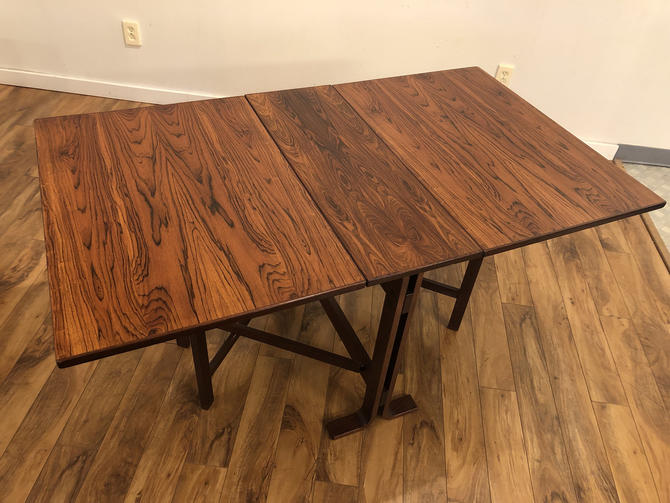 Westnofa Rosewood Drop Leaf Dining Table by Vintagefurnitureetc