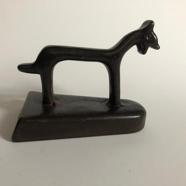 Small Abstract Bronze Cat Sculpture by MadCoolNYC