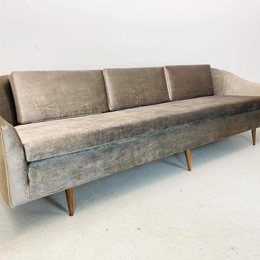 mid century modern Milo Baughman Thayer Coggin long low 4 seater 6 leg curved cloud sofa by AtomicJunkiesGallery