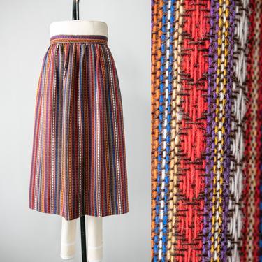 1960s Pencil Skirt Wool Woven High Waist XL by dejavintageboutique