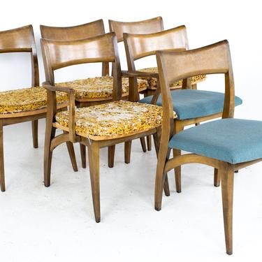 Heywood Wakefield Mid Century Tuxedo Dining Chairs - Set of 6 - mcm by ModernHill