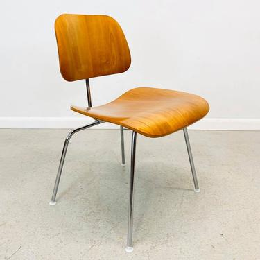 authentic Herman Miller Charles Eames DCM chair in light walnut by AtomicJunkiesGallery