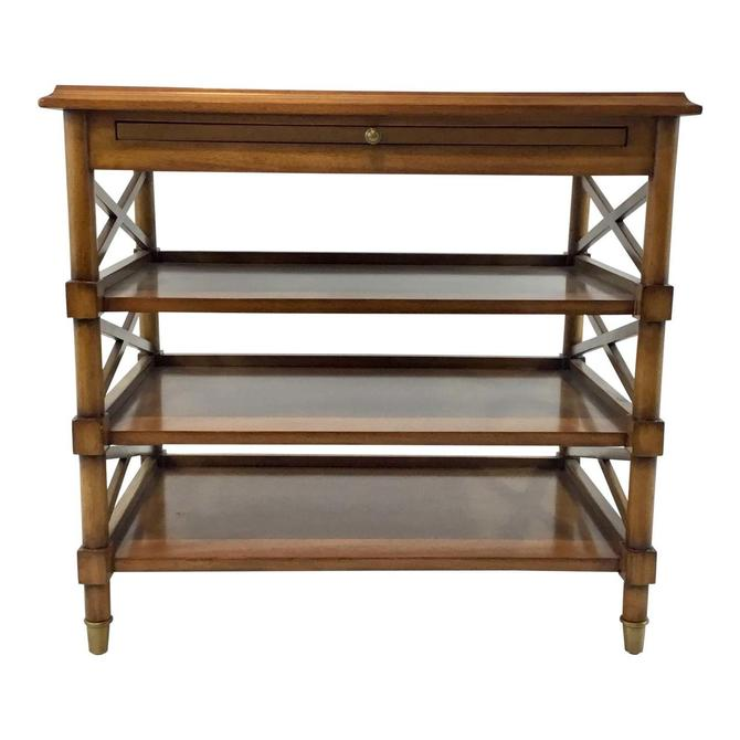 Transitional Pearson Co. Oak Finised Four Tier Side Table