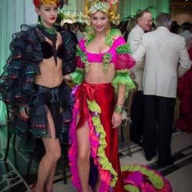 Liquid Lamé Ruffled Carmen Miranda Skirt, Size-2