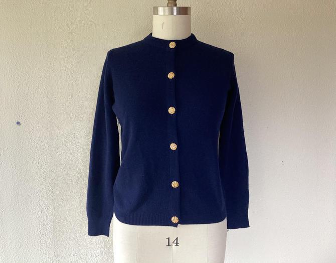 1980s Ballantyne cashmere cardigan sweater by VelvetGoldmineShop