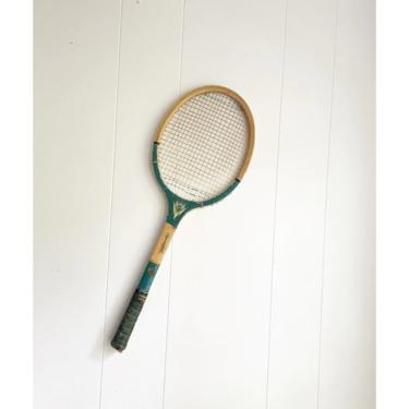 """Vintage Laminated Construction """"Sphinx"""" Tennis Racket with Black Handle, Wall Decor Sports Bar Game Room by BlackcurrantPreserve"""