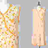 1920s Dress / 20s Deco Cotton Day Dress / Orange Citrus Floral / Summer Dress by GuermantesVintage