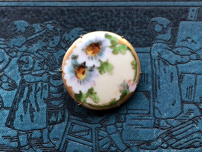 Edwardian Porcelain Brooch by nonasuch