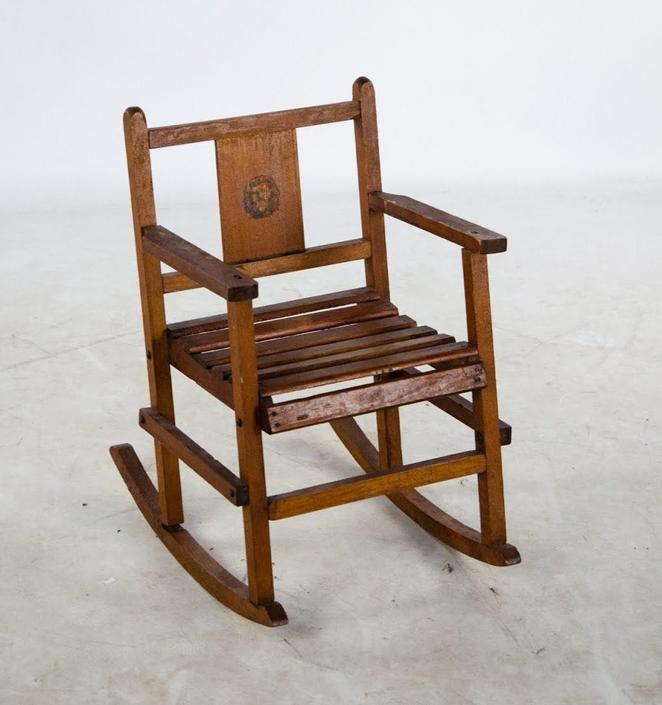 Early 1900's Antique Child's Wood Rocker by BluffStProps