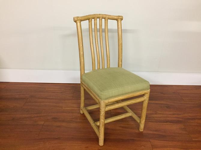 McGuire Vintage Rattan Desk Chair by Vintagefurnitureetc