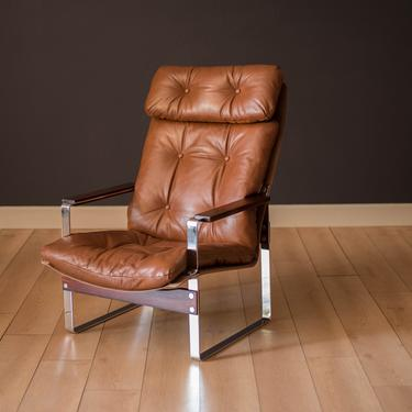 Mid-Century Modern Leather and Rosewood Lounge Chair by Richard Young by MidcenturyMaddist