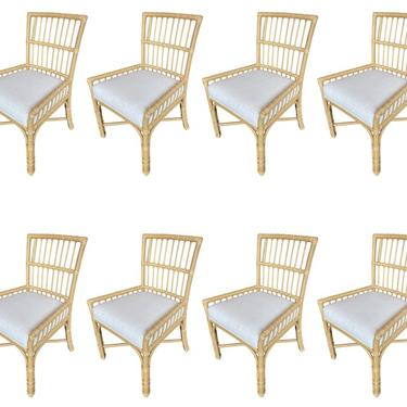Set of Eight Bamboo Dining Chairs
