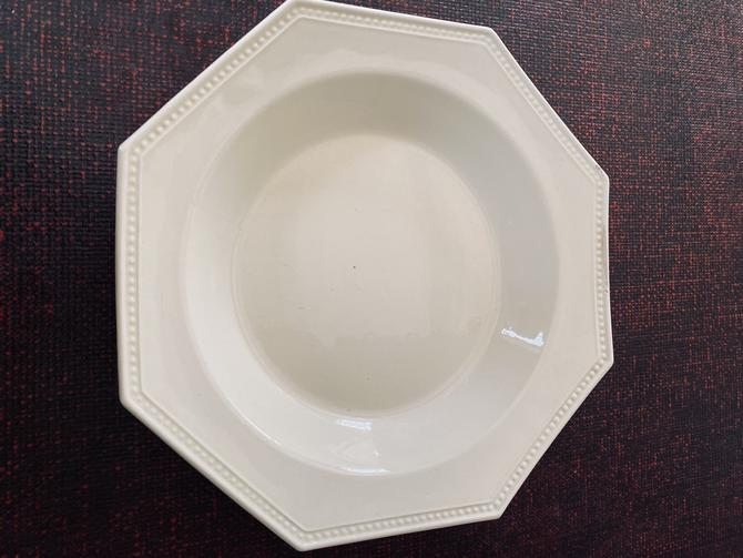 Antique French Creamware Octagon Soup Bowls, set of 8