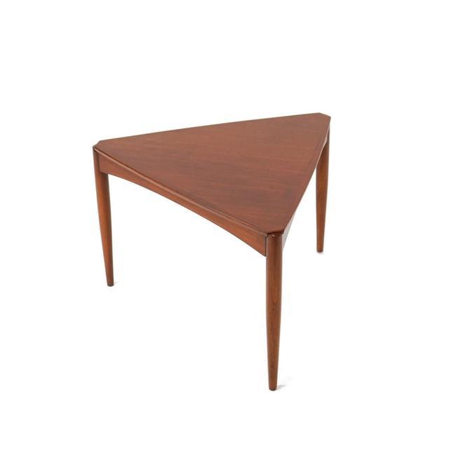 Swedish Triangular Teak Side Table Atrb. to Dux