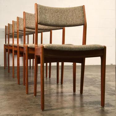 Mid-Century Danish Modern Teak Dining Chair / Set of 6 ~ Style of Moller by modernmidcenturyfurn