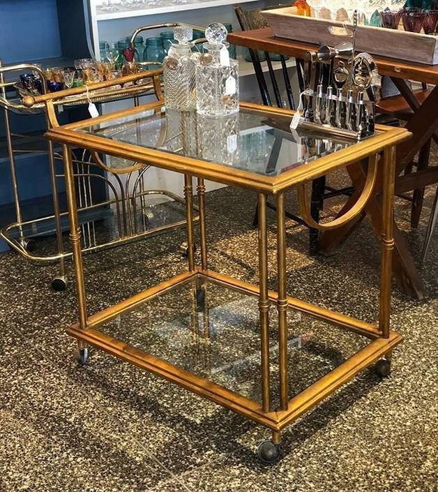 Awesome gilt metal bar cart! $225