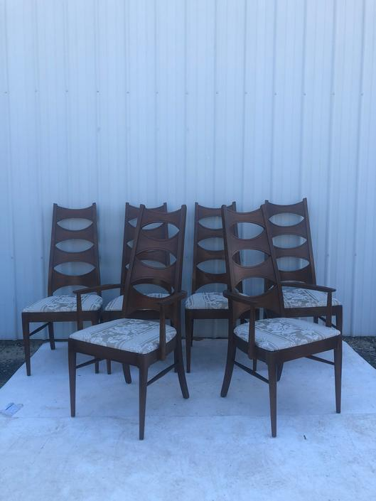 Mid Century Kent Coffey Perspecta Dining Chairs 6