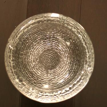 vintage soreno crystal clear glass ashtray by suesuegonzalas