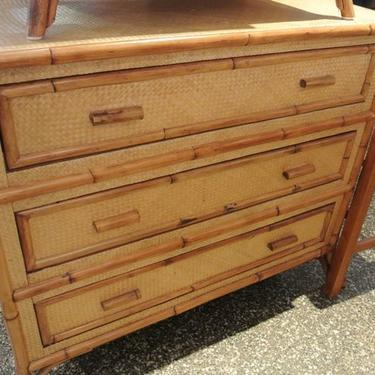 sets wicker furniture set rattan drawer bedroom banyan dresser black