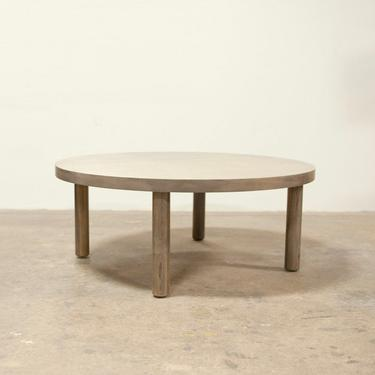Maple Coffee Table FREE SHIPPING Round- Grey Stain Oxidized by OlivrStudio