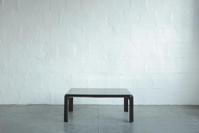Brown Plastic Coffee Table By Vico Magistretti