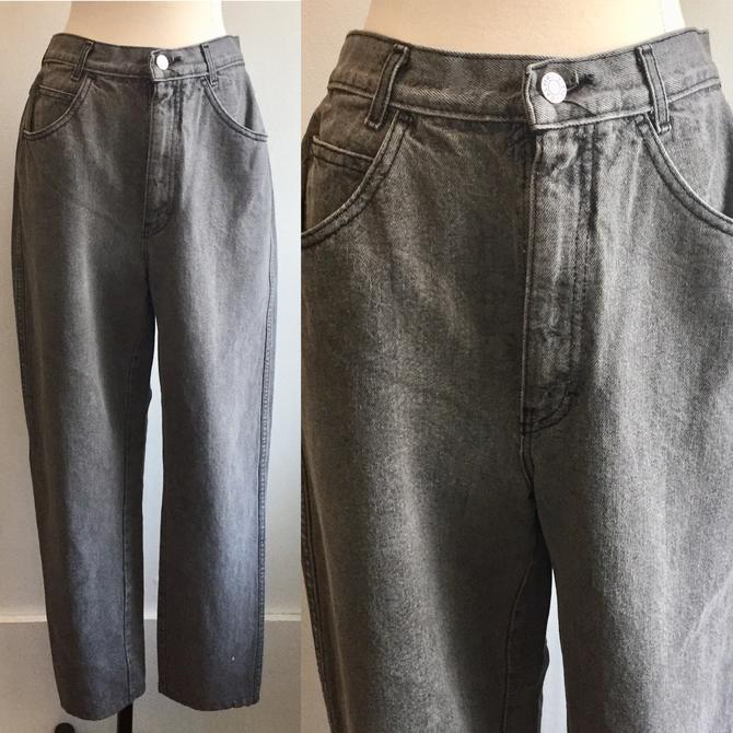 80's Vintage CALVIN KLEIN Mom Jeans / Soft Gray Wash / Cotton + Made in USA by CharmVintageBoutique