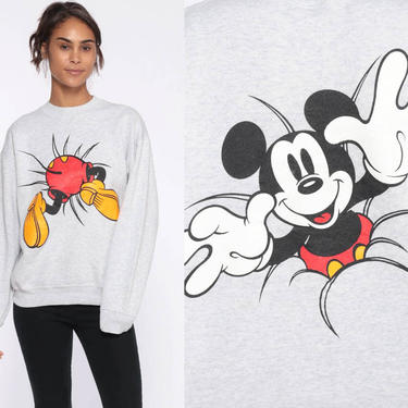 737f241c1 Added on January 9, 2019. Mickey Sweatshirt Disney Sweater Mickey Mouse  Front ...