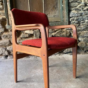 Mid century desk chair Danish modern side chair mid century chair by VintaDelphia