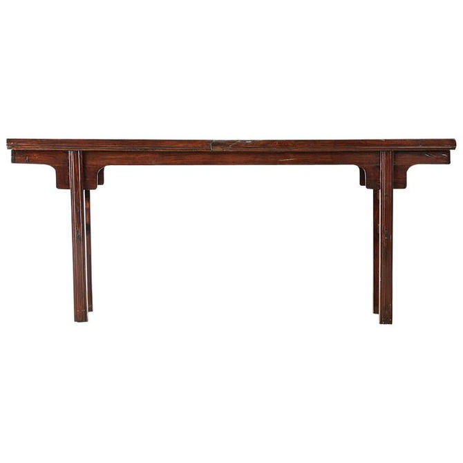 Chinese Hardwood Altar Table or Console Table by ErinLaneEstate