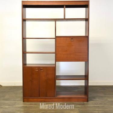 Walnut MCM Tall Bookcase by mixedmodern1