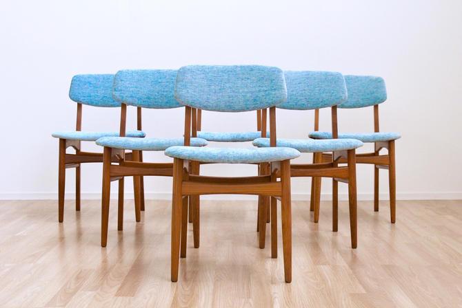 Set of Six Mid Century Danish Modern TSM 'No3' Dining Chairs by SputnikFurnitureLLC