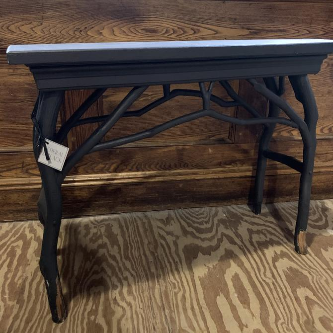 Black Tree Branch Console Table