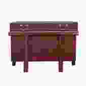 Asian Brown Stain Korean Style Trunk Storage Chest Table cs5312S