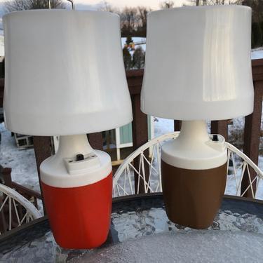 Ray o Vac Camp Lantern LED bulb rewired 9 volt battery vintage 70s by MadModWorldVintage