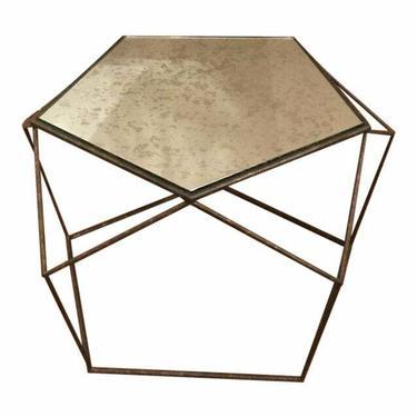 Currey & Co. Industrial Modern Geometric Axiom Coffee Table