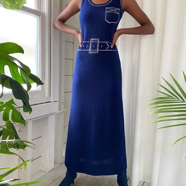 60s Tromp L'oeil Maxi Dress